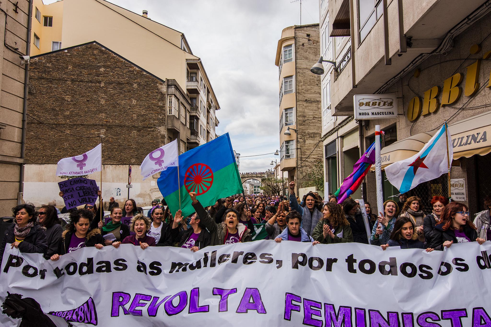 Fotos manifestación feminista de Lugo