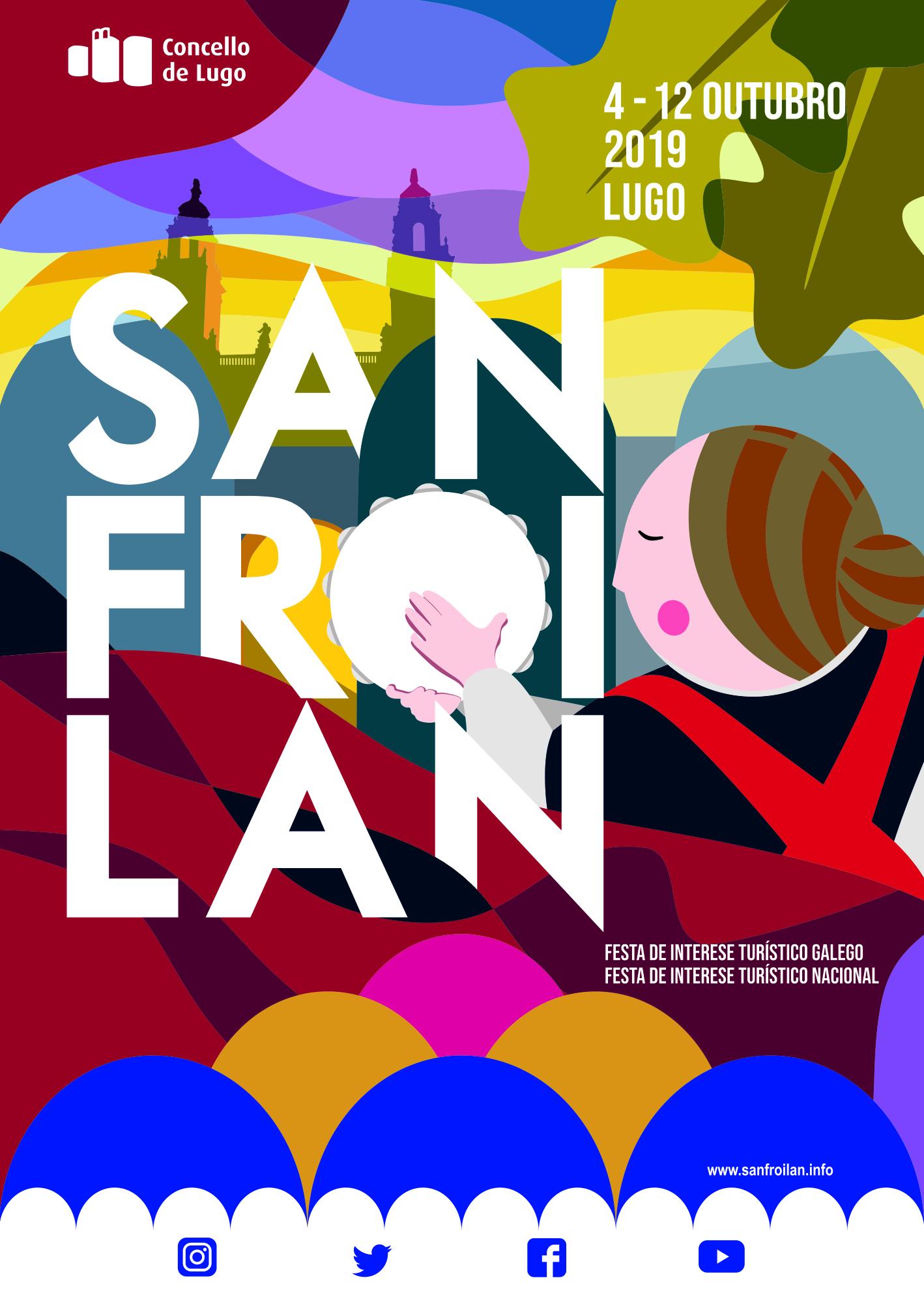 cartel san froilan 2019 Festexando aínda que chova