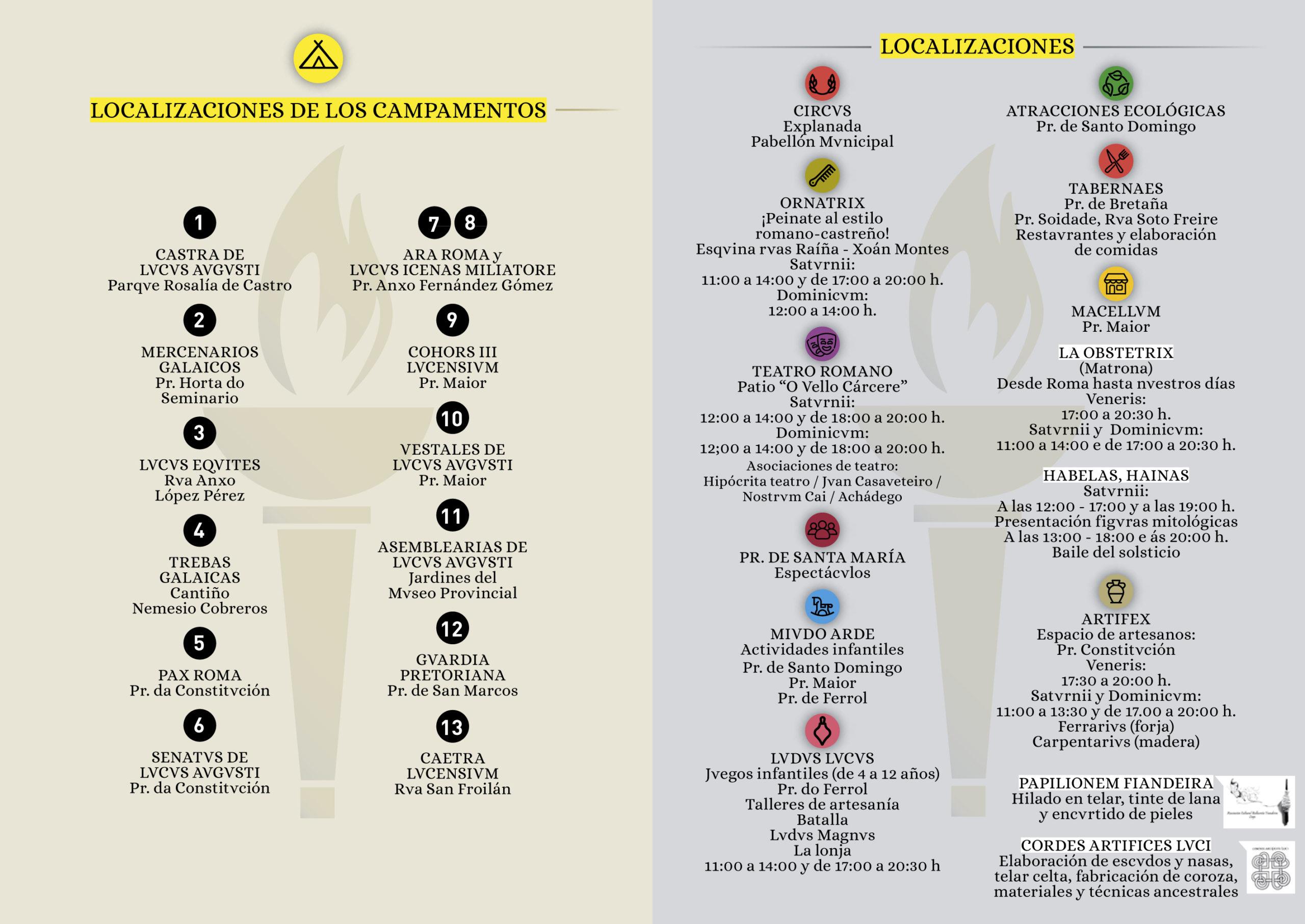 Arde Lucus 2019 – Programa dos Campamentos