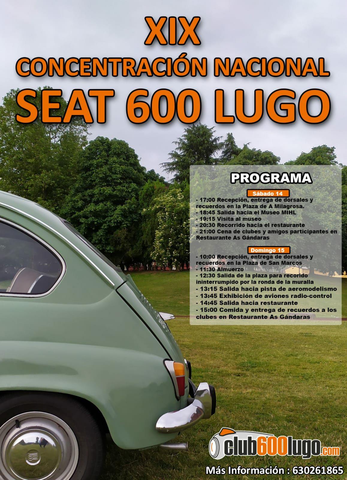 XIX Concentración Nacional de SEAT 600 en Lugo
