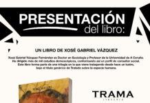Cartel de Presentación de libros do lucense Xosé Gabriel Vázquez