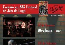 "Cartel dos Concertos ""Camiño ao XXX Festival de Jazz de Lugo"""