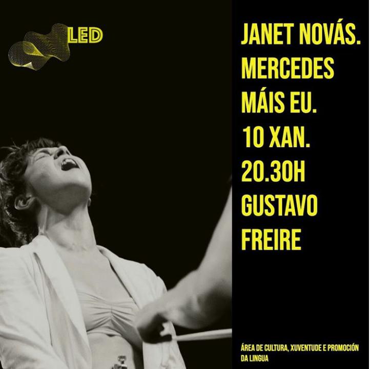 Cartel de danza: Mercedes máis eu, de Janet Novás