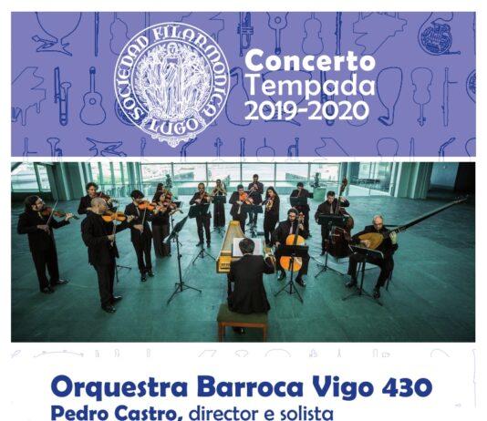 Cartel do concerto da Orquestra Barroca Vigo 430