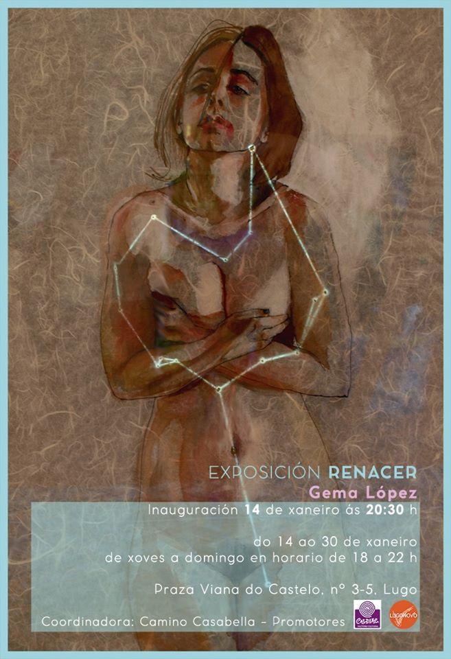 Cartel da expo Renacer de Gema López en Codex Cinema