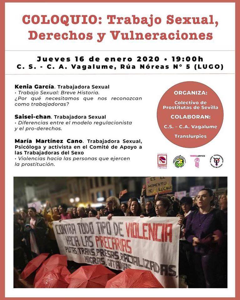 Cartel do Coloquio: traballo sexual, dereitos e vulneracións