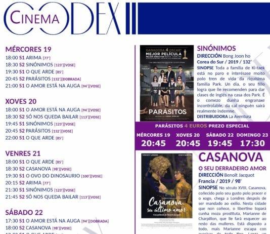 Cine en Lugo: cines Yelmo, Cristal y Codex