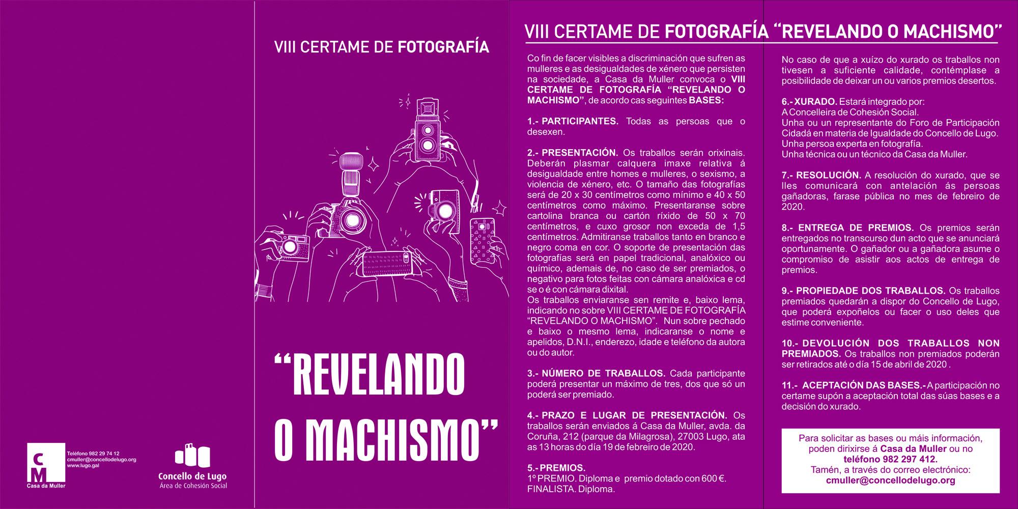 "Cartel do Concurso de fotografía ""Revelando o Machismo"""