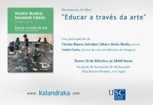 """Cartel de la Presentación do libro """"Educar a través da arte"""""""