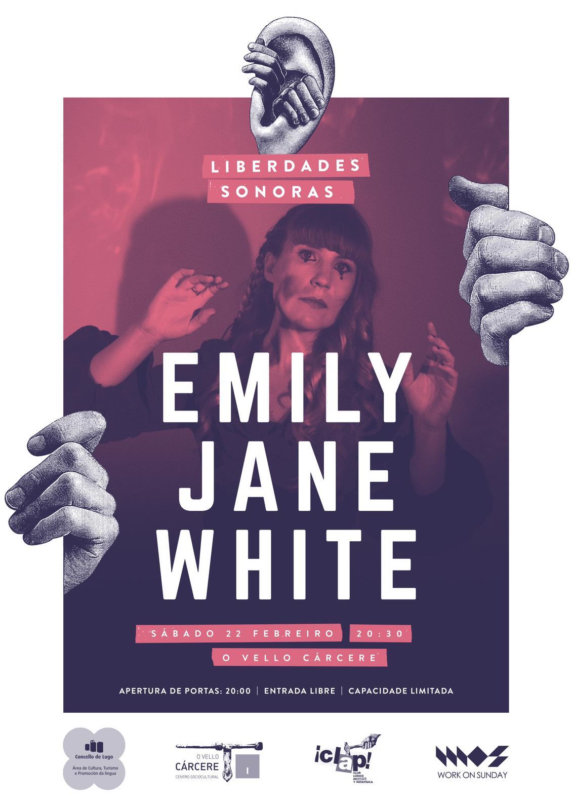 Cartel do concerto de Emily Jane White en O Vello Cárcere