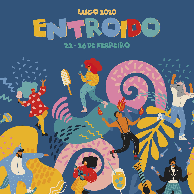 Portada do Programa do entroido en Lugo.