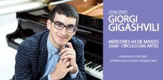 Giorgi Gigashvili, estará en concerto no Círculo das Artes de Lugo