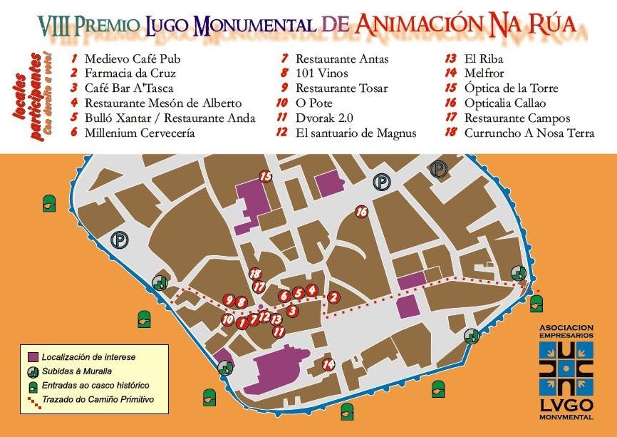 Plano del VIII Premio Lugo Monumental de Animación de Rúa