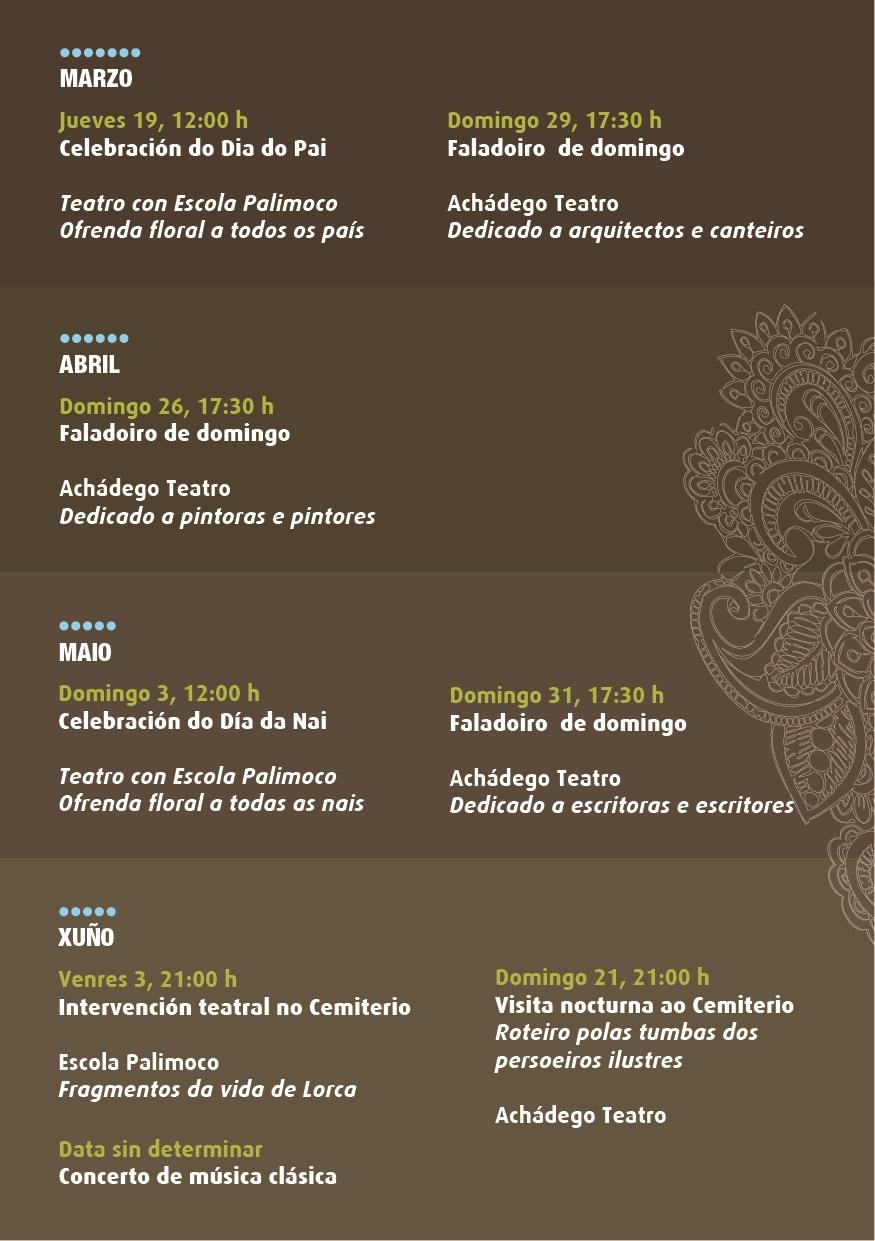 Actividades culturais no cemiterio municipal de Lugo