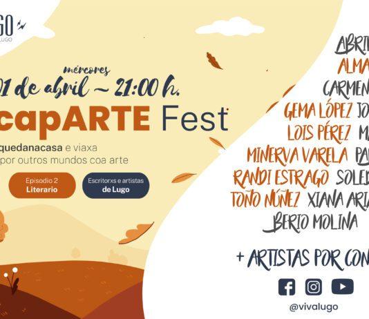 Cartel do escapARTE Fest - Lugo - Festival literario