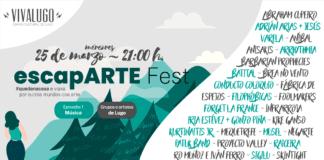 Cartel do Festival escapARTE, grupos e artistas de Lugo