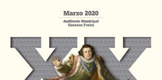 Cartel do Programa da XX mostra de teatro clásico de Lugo