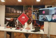 Foto da presentación do Lara Méndez presenta o Plan Reanima Lugo, axudas directas a protexer o emprego e darlle liquidez aos autónomos, empresas e familias