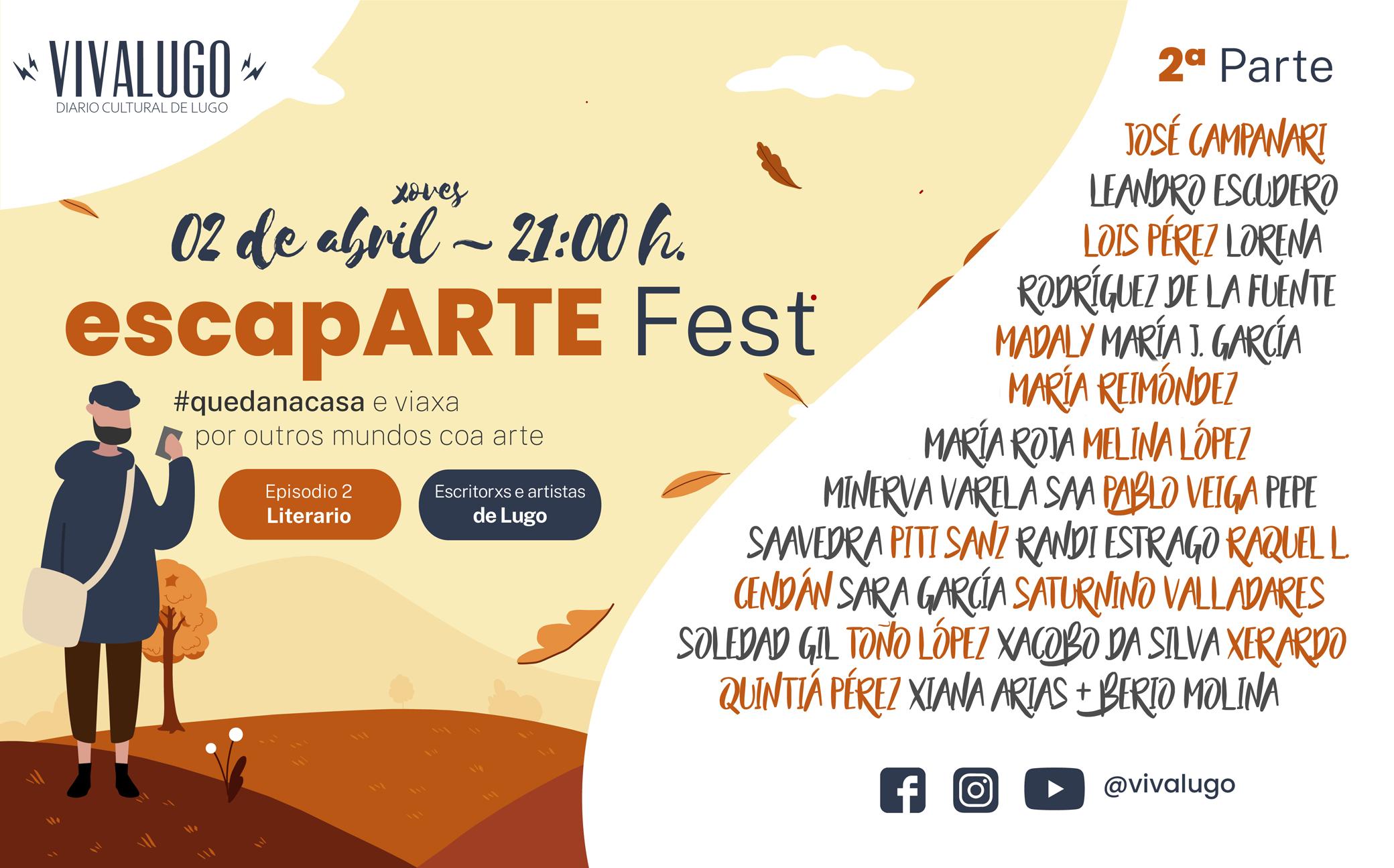 Cartel do escapARTE Fest - Literario on line