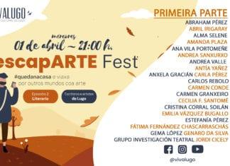 cartel del escapARTE Fest - Literario - Lugo