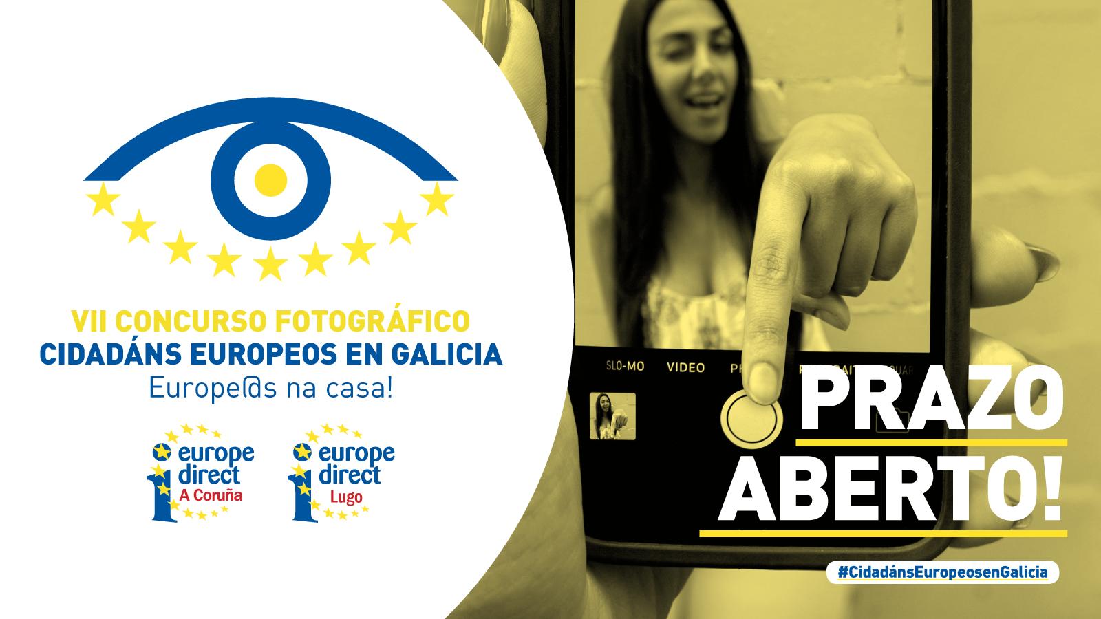 Cartel VII certame de fotografía Cidadáns Europeos de Galicia: Europeos na Casa