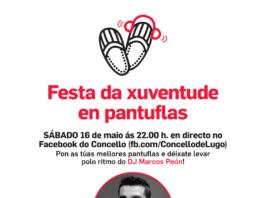 Cartel da Festa da Xuventude 'en pantuflas'