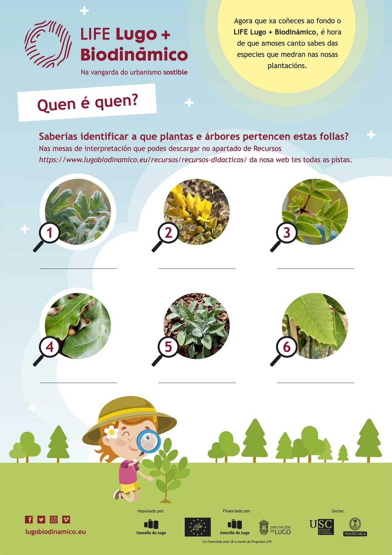 Cartel das Actividades didácticas online sobre o LIFE Lugo + Biodinámico