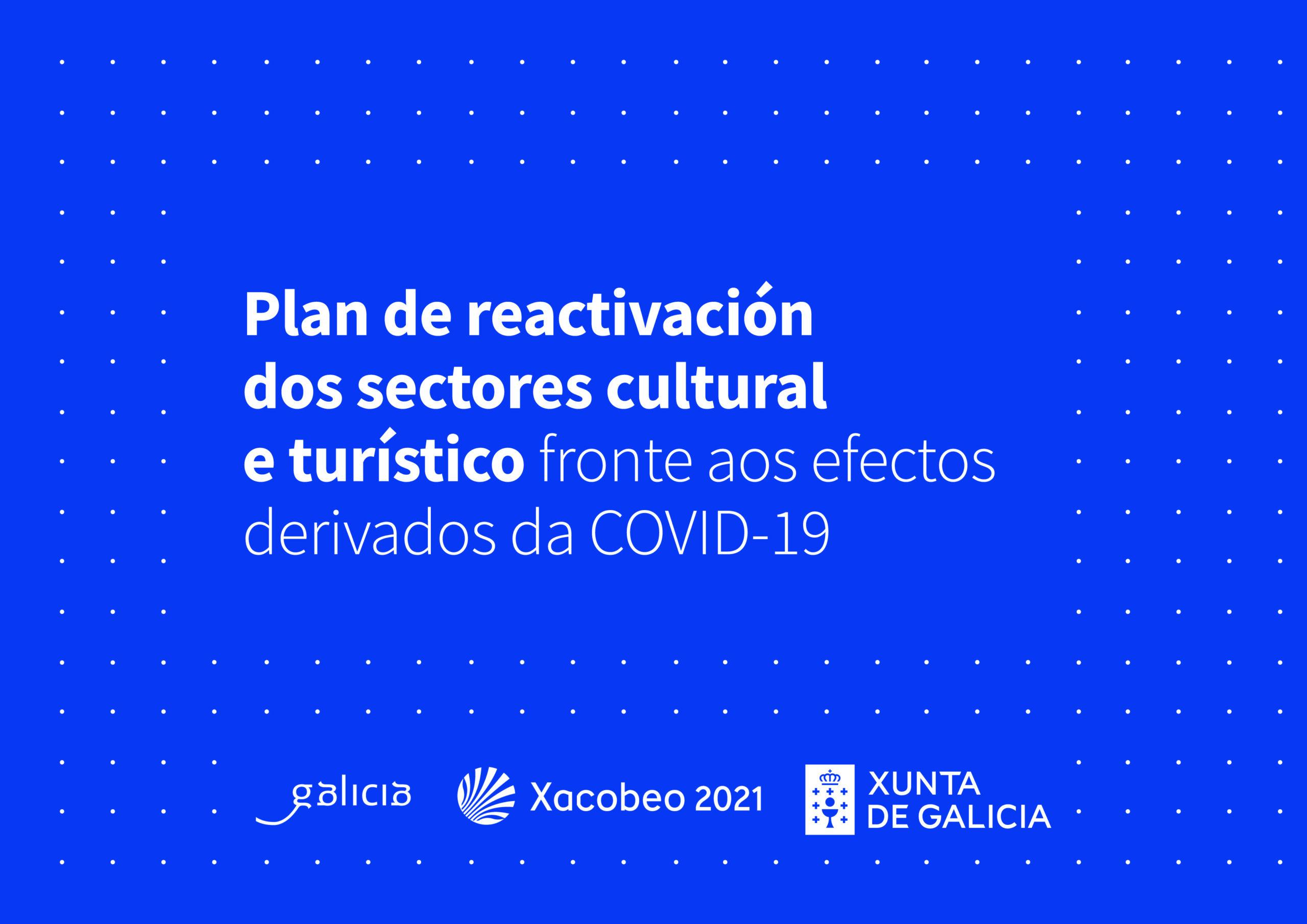 Cartel do Plan da Xunta de Galicia de reactivación do sector cultural
