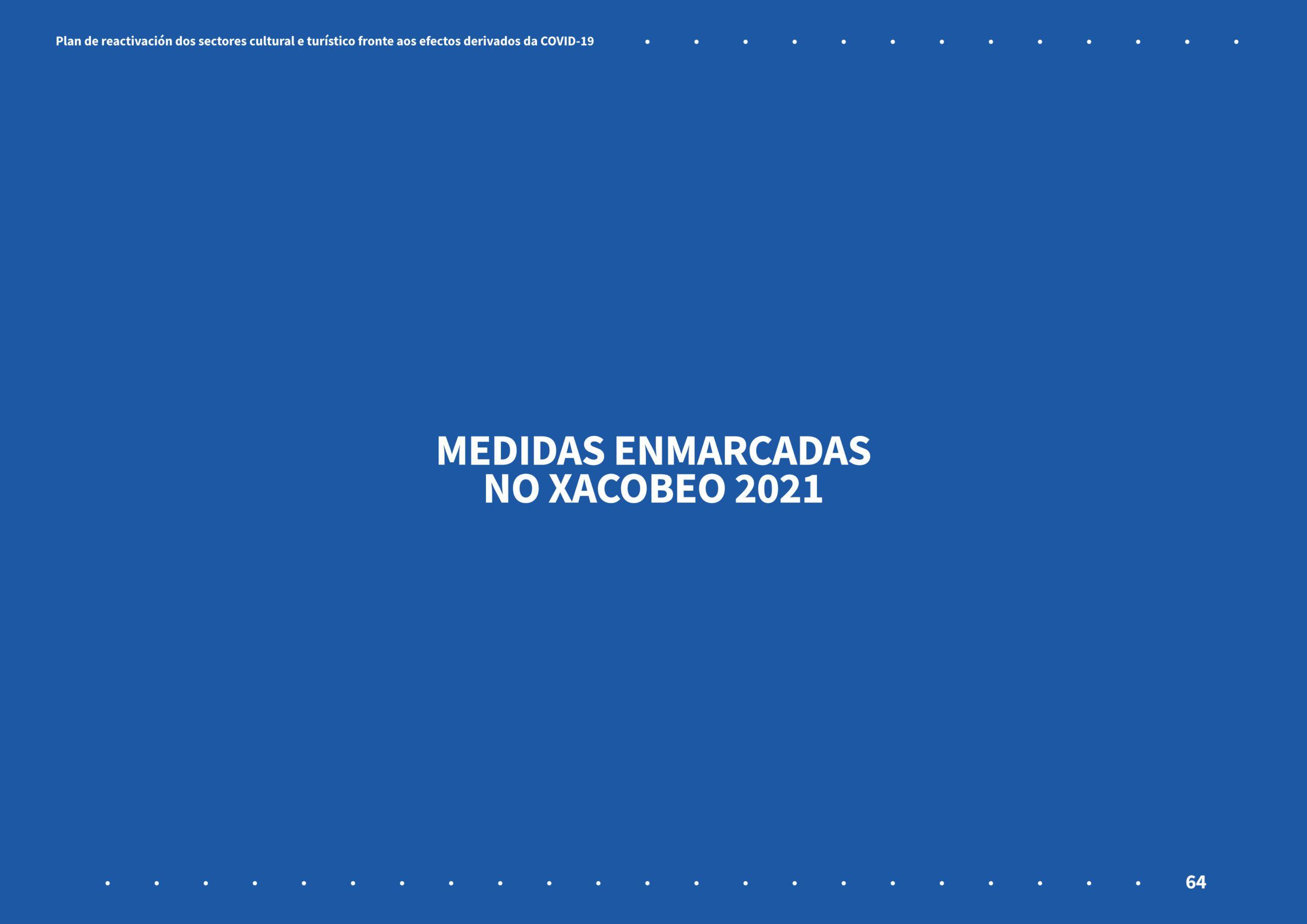 Cartel Xacobeo 2021 - medidas culturais