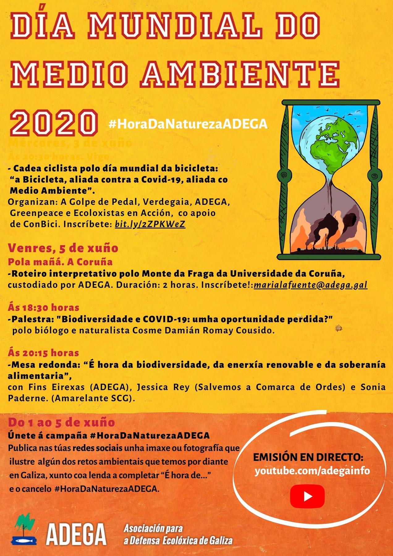 #HoraDaNaturezaADEGA - Campaña en redes sociais na Semana do Medio Ambiente