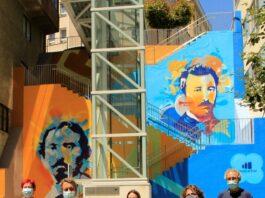 Lugo estrea mural sobre o himno galego