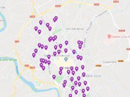 """Mapa de """"Tecendo Brincadeiras"""" - Xogos nas rúas de Lugo"""