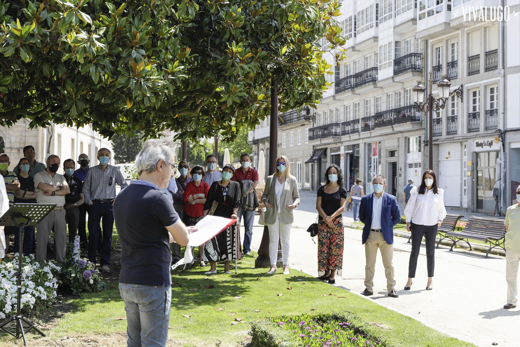 acto de apertura ao público do busto de Xoán Montes Foto de Loopez para Viva Lugo