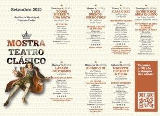 A XX Mostra de Teatro Clásico de Lugo volve en setembro