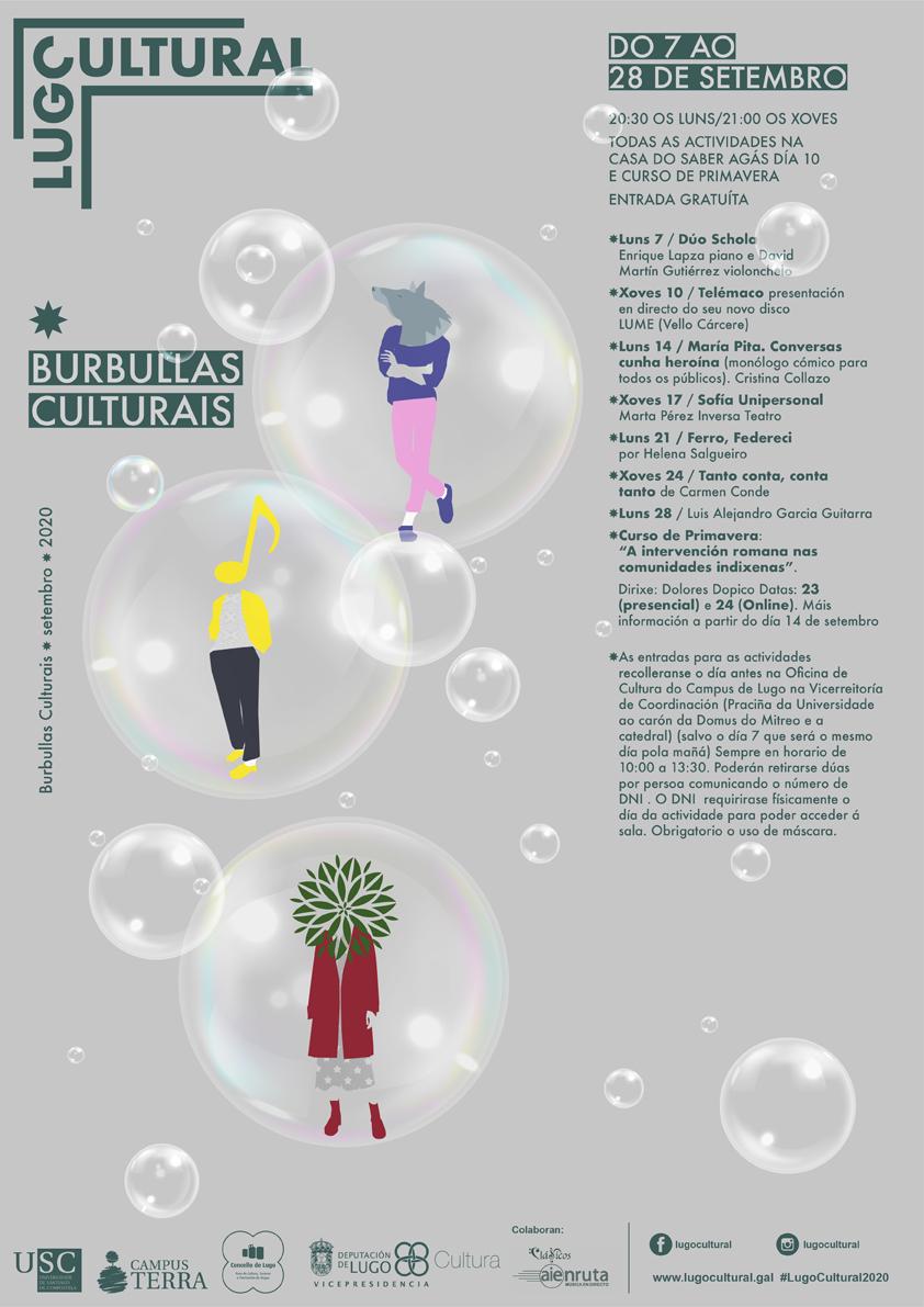 """Lugo Cultural programa """"burbullas culturais"""" ata finais de ano."""
