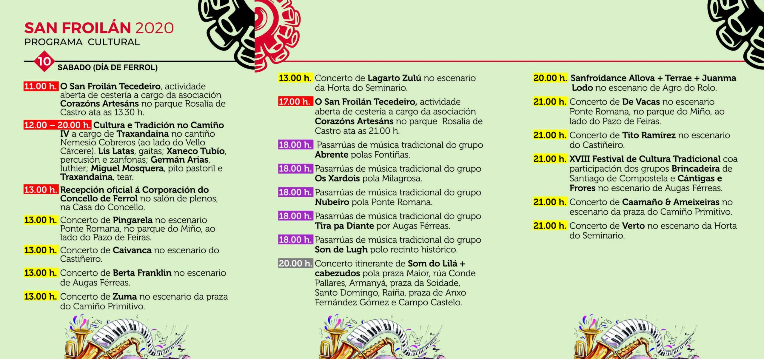 San Froilán 2020 - Programa