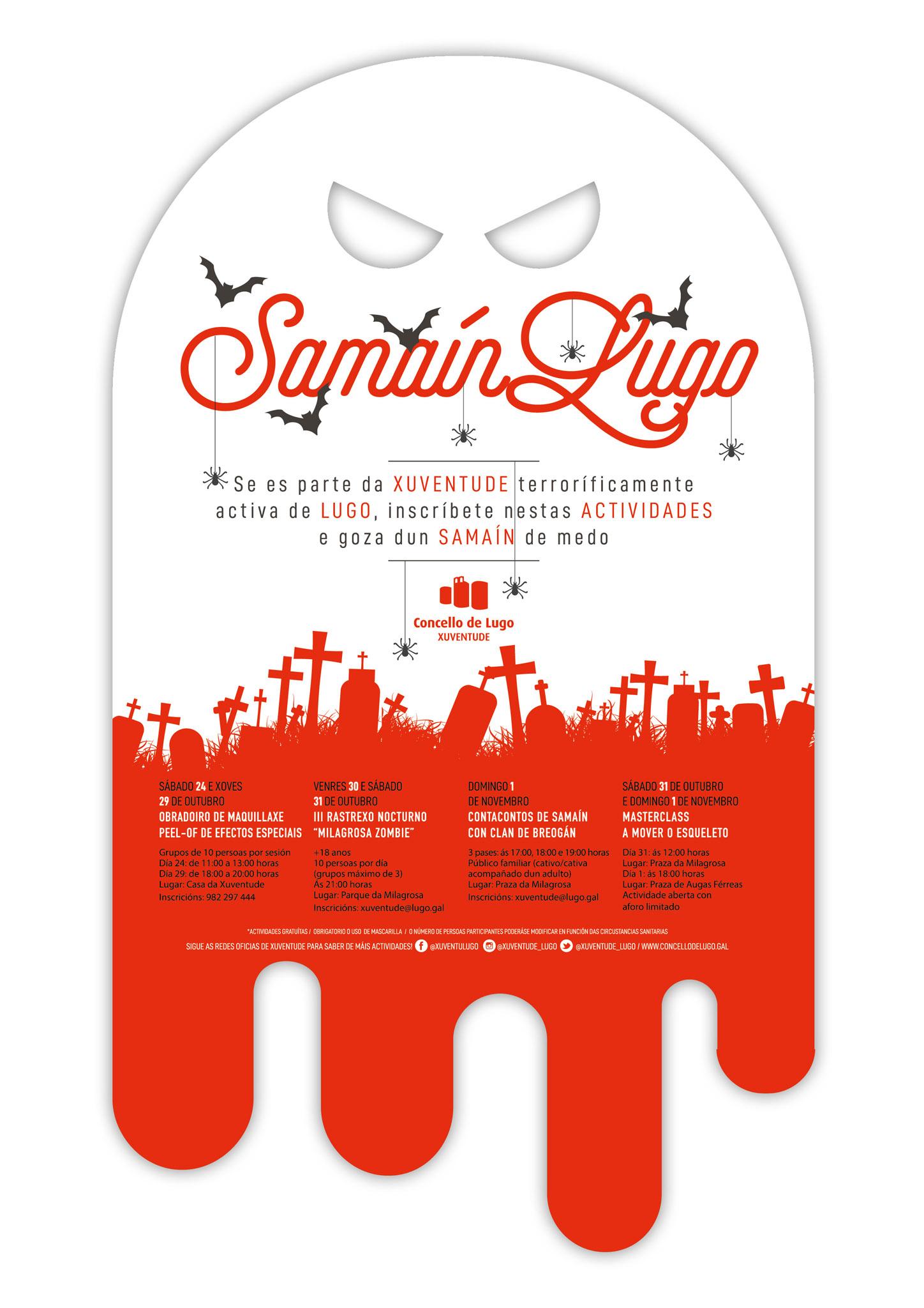 Samaín 2020 en Lugo - Programa de Xuventude
