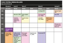 Programa do Festival Cinema Mulleres - FILMU - de Lugo