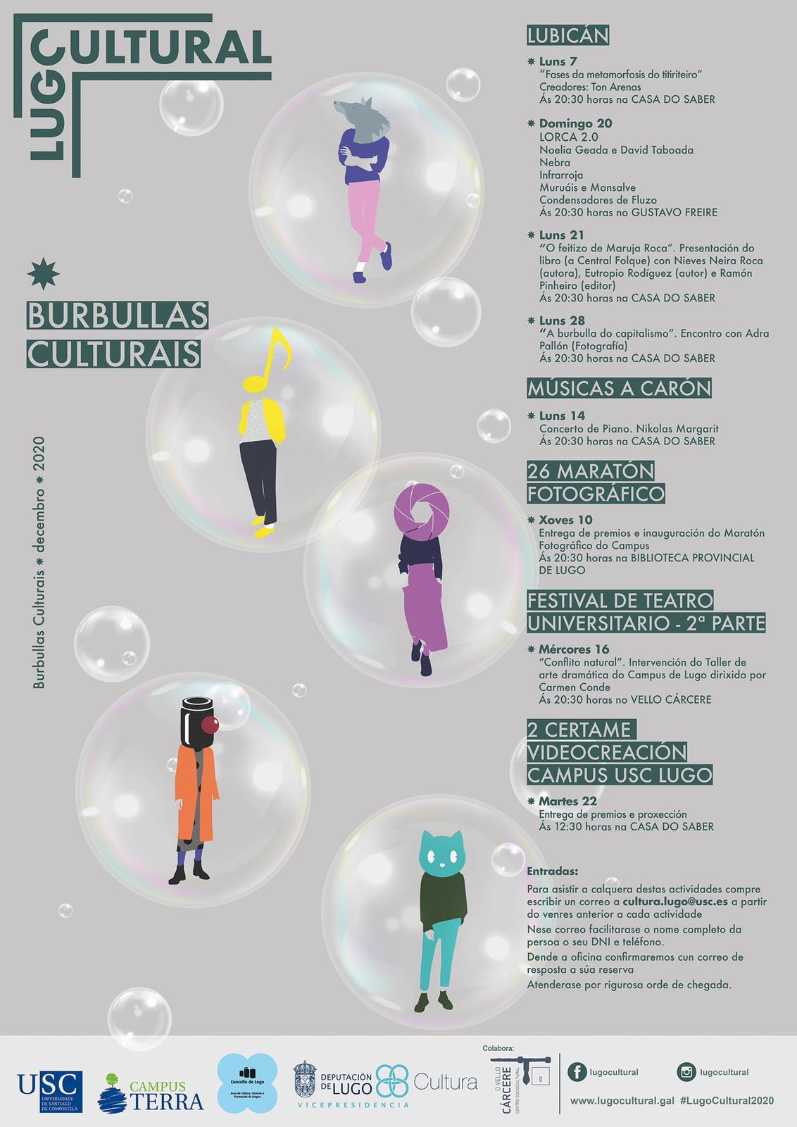 Burbullas culturais de decembro 2020