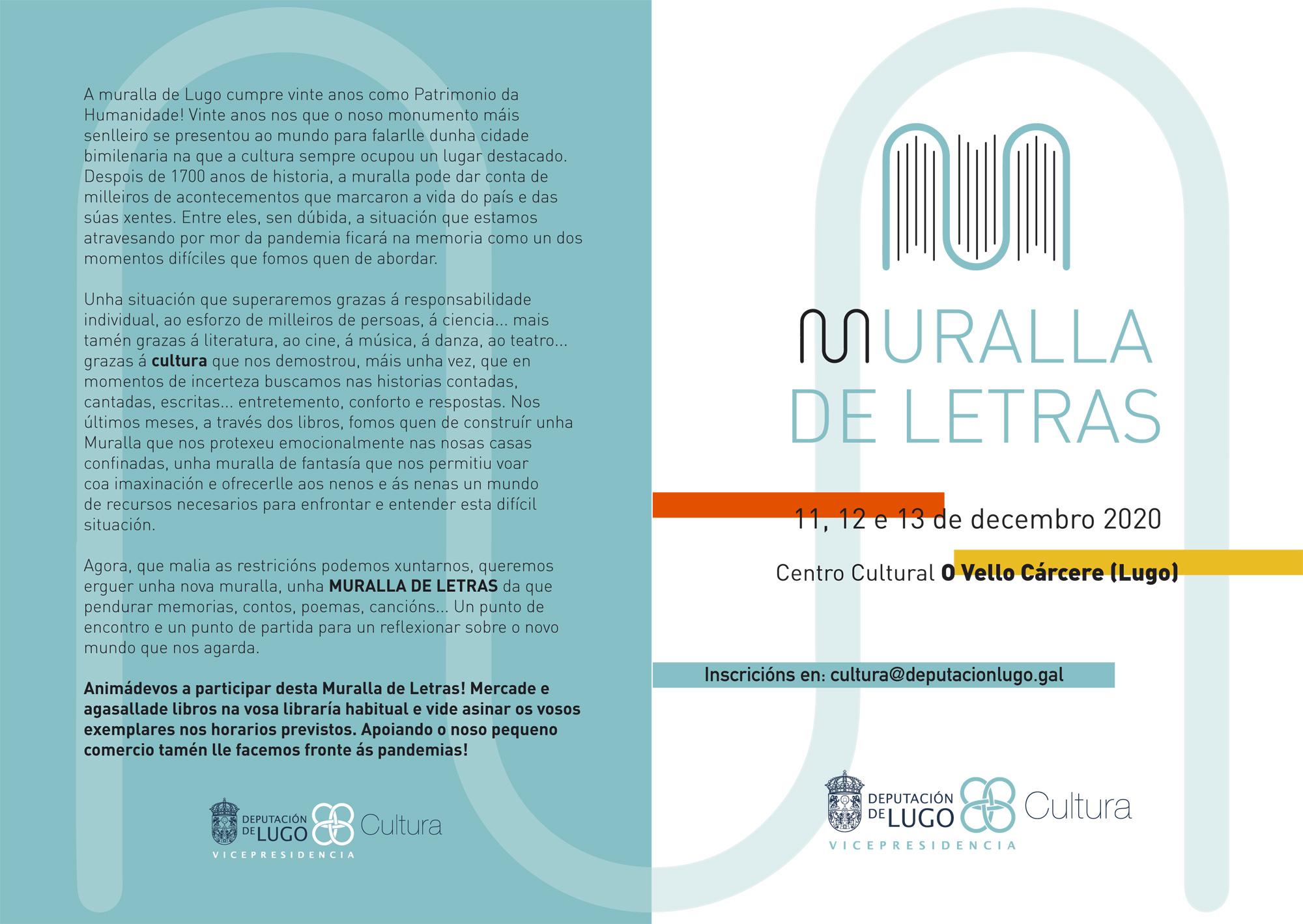 """Unha """"Muralla de Letras"""" en Lugo - Programa"""