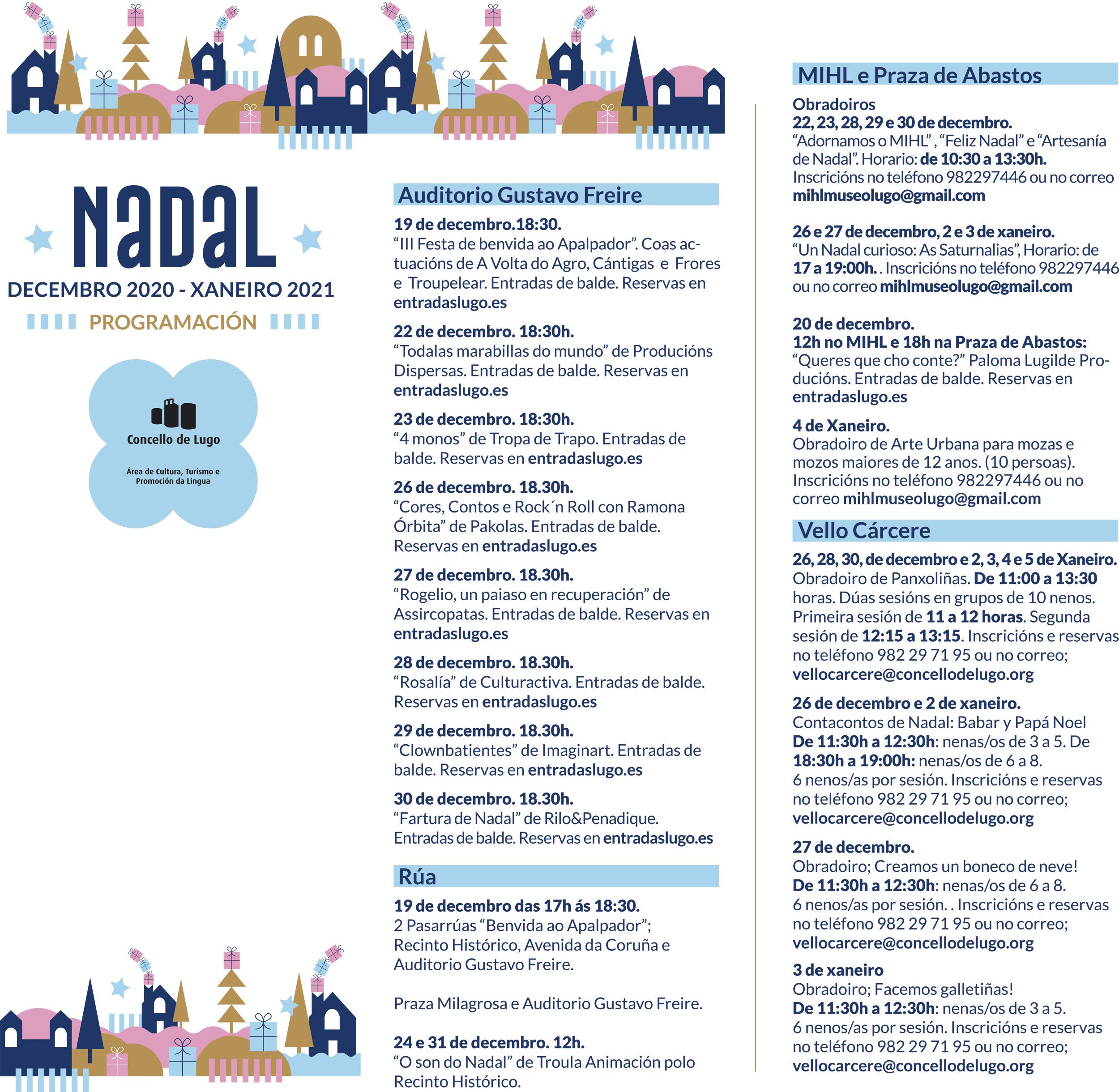 Programación de Nadal 2020 en Lugo