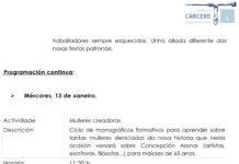 Programación O Vello Cárcere de Lugo