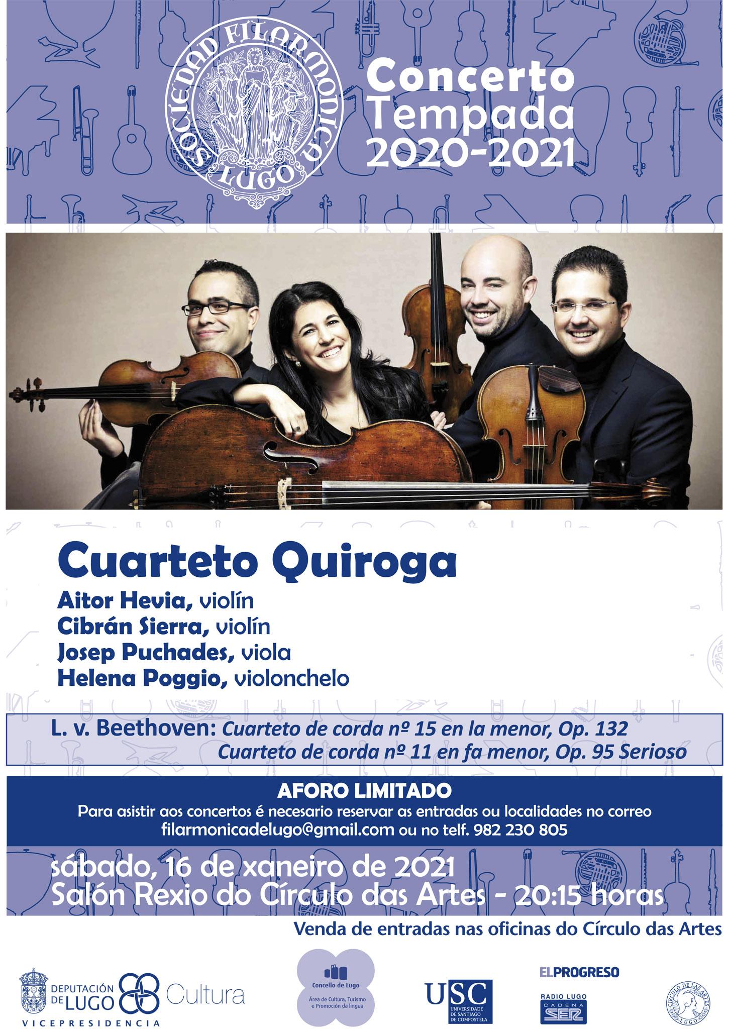 Concerto do Cuarteto Quiroga - Premio Nacional de Música - en Lugo