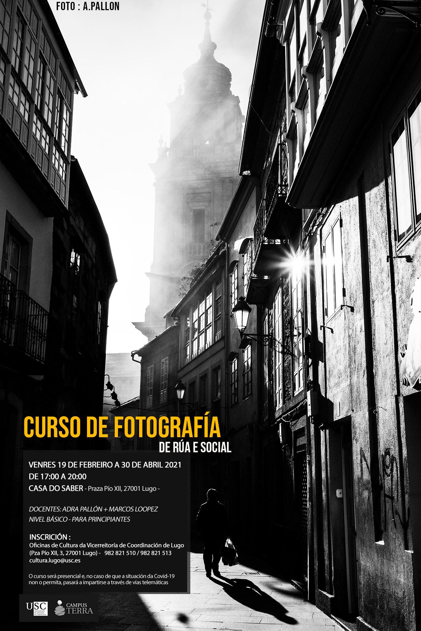 Novo curso básico de fotografía da área de cultura da USC Lugo