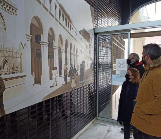Fotos antigas da Praza e o Mercado de Lugo nas súas instalacións