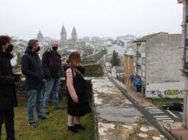 Iago Eireos realizará un mural na Ronda da Muralla