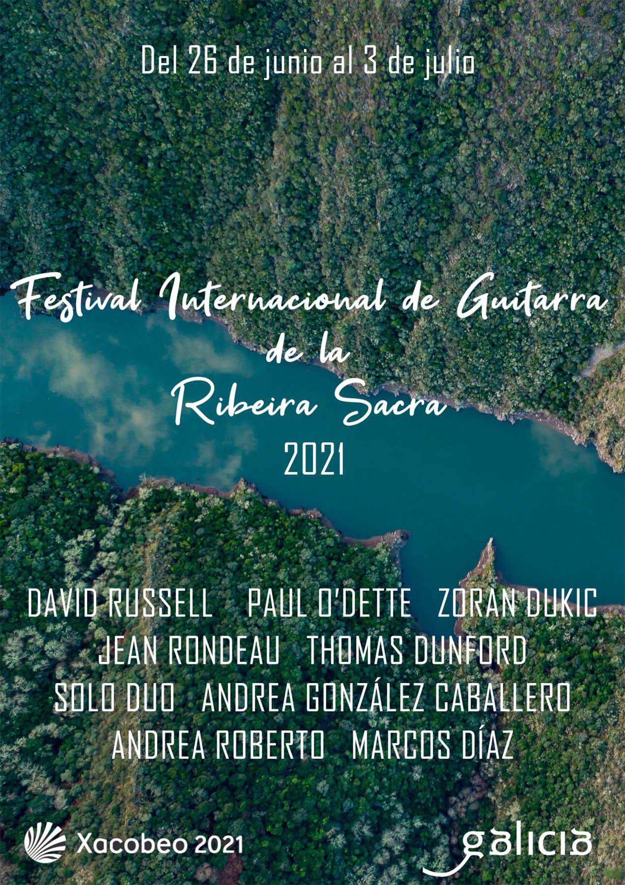 Cartel del Festival Internacional de Guitarra Ribeira Sacra 2021