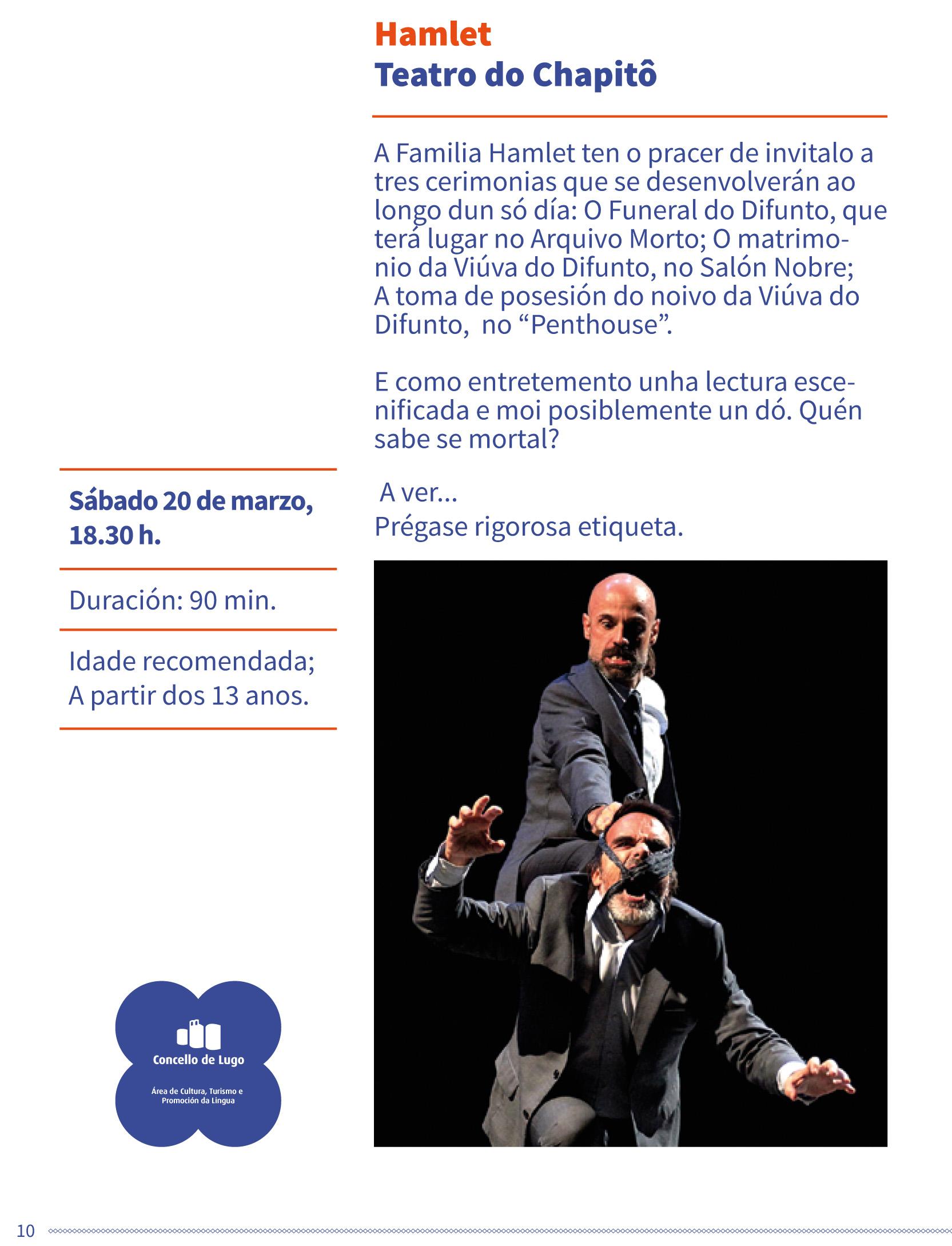 Teatro clásico no Gustavo Freire - Hamlet