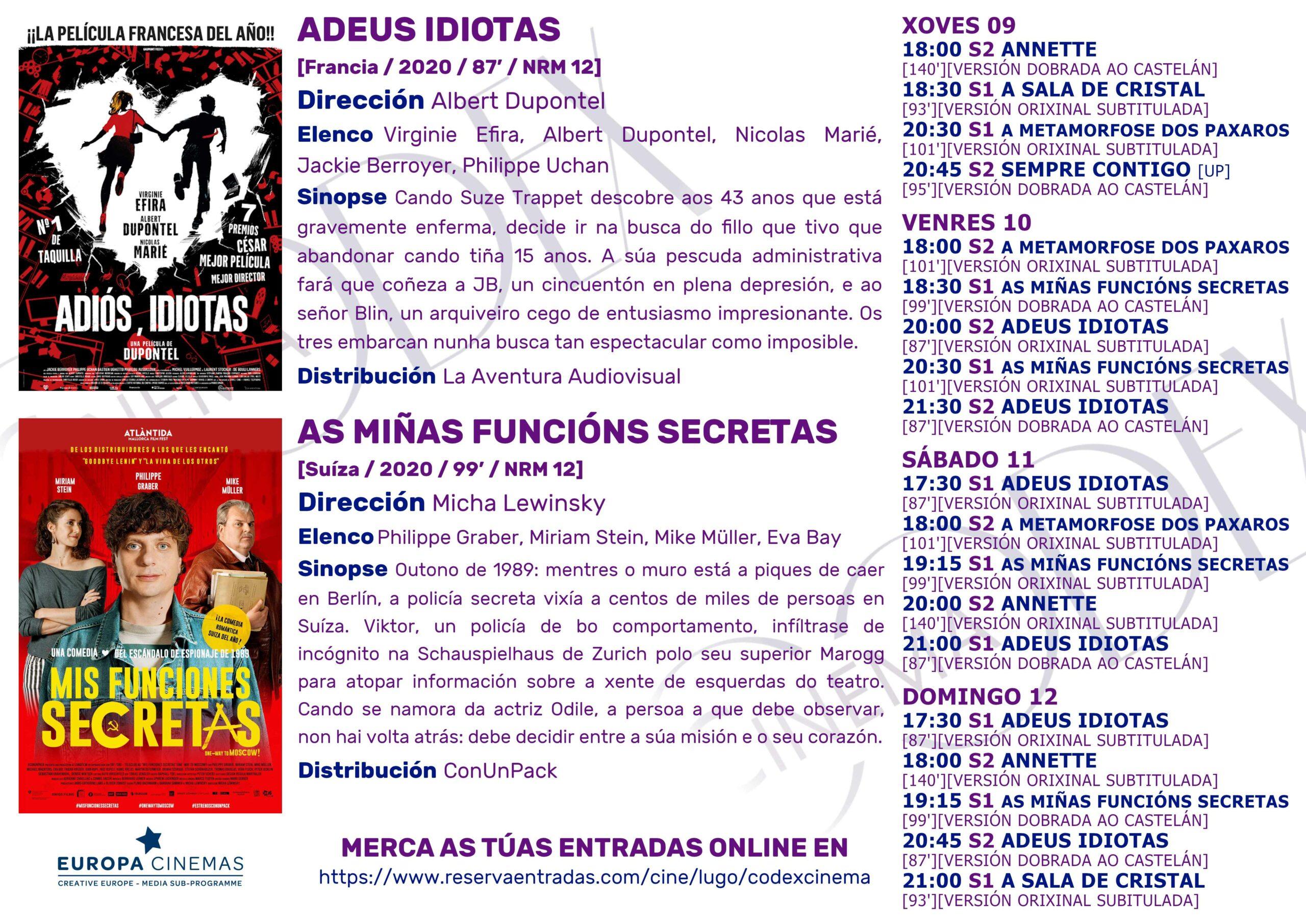 Codex Cinema - Semana do 09/09